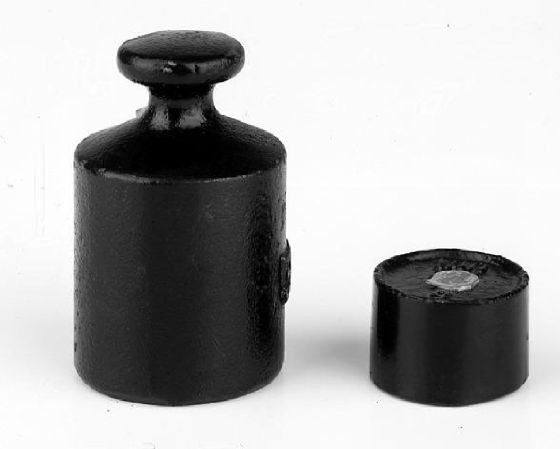 M3 Einzelgewicht, Knopfform, Gusseisen lackiert