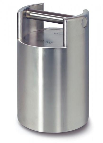 M1 Kontrollgewicht, stapelbar, Edelstahl feingedreht