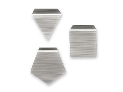 F2 Milligrammgewicht, Plättchenform, Aluminium