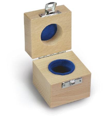 Holzetui  1 x 1 kg E1 + E2 + F1, gepolstert