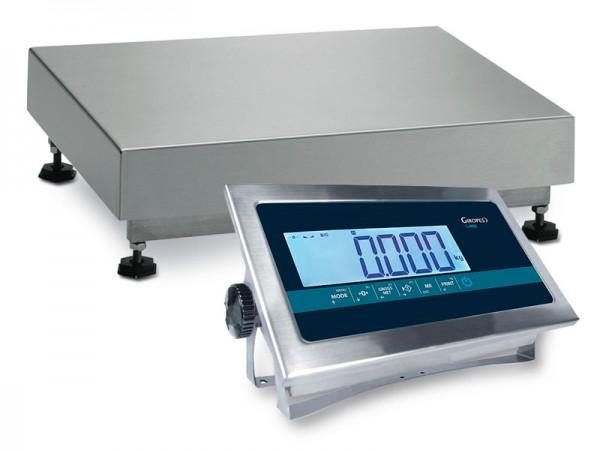 Edelstahl Plattformwaage 30kg, GI400i LCD IP68, Sonderposten