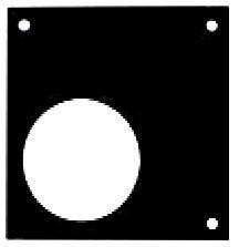 Fixierplatte asymmetrisch 200 N - 2 kN / 200 lb - 500 lb